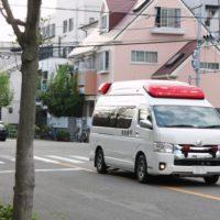 交通事故で救急車が出動